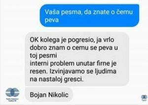 Subotički radio se izvinjava slušaocu, Printskrin: Facebook