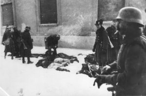 Pokolj u Novom Sadu 1942, godine; Mađarski vojnici sa svojim žrtvama