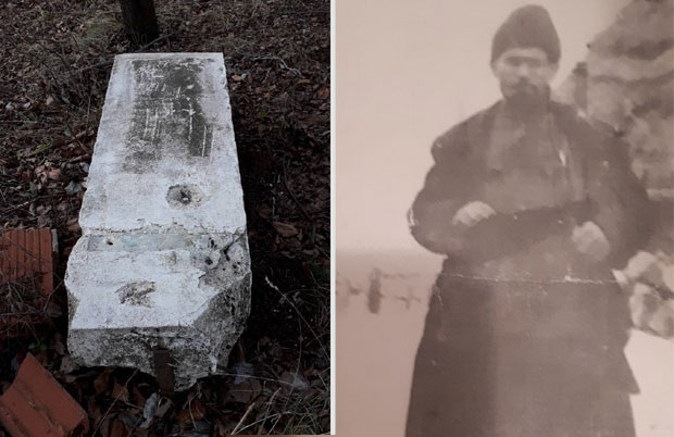 Srušeni spomenik / Cvjetko Pajčin - Foto Privatna arhiva