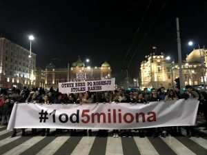 Protest u Beogradu (FOTO: V. ŽIVOJINOVIĆ / RAS SRBIJA)