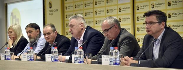 Sa konferencije za novinare posle projekcije filma, Foto K. Mihailović