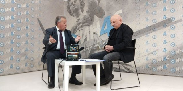 Radan Nikolić sa novinarem IN4S Ivanom Miloševićem