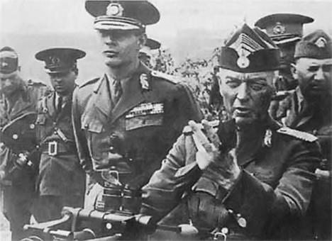 "Maršal Antonesku (sedi), kao Hitlerov saveznik, za vreme Drugog svetskog rata aktivno je dejstvovao na stvaranju ""rumunskog raspoloženja"" u Timočkoj krajini"