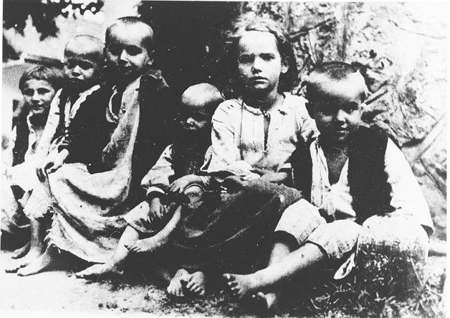 """Њих шесторо. Без мајки, без очева, без ђедова и нана, без иког свог. Без наде и ма чије помоћи и саосећања. Пркосни и тако озбиљни, пред ужасним страдањем о коме нико неће говорити, писати, сведочити... И све то што су тада видели и доживели (док их нису докрајчили камама и чекићима) ове девојчице и дечаци ће се ПОНОВИТИ, пола века касније, на истом овом уклетом месту. У оном делу пакла под именом """"Хрватска""""."""