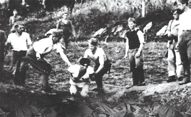 """Ustaška zverstva u Jasenovcu Foto Iz knjige """"Nadbiskup genocida"""""""