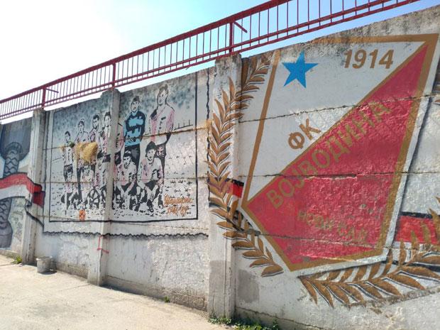 Mural na FK Vojvodina - lep primer Foto Z. G.