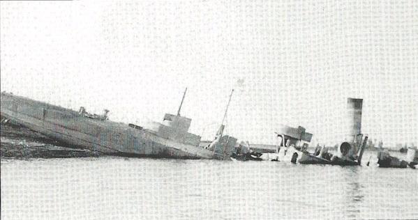 """Monitor """"Sava"""" nakon potapanja 12. aprila 1941. godine"""