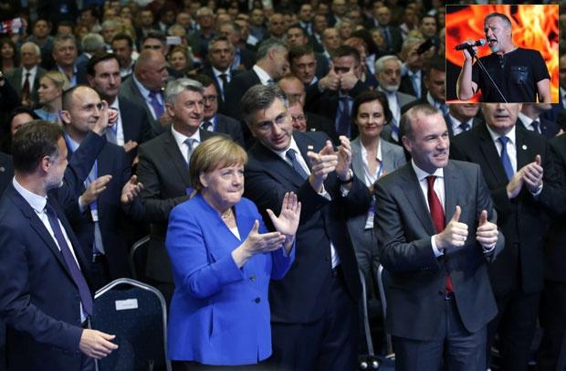 """Na predizbornom skupu HDZ puštali """"ustaškog barda"""" Foto Tanjug"""