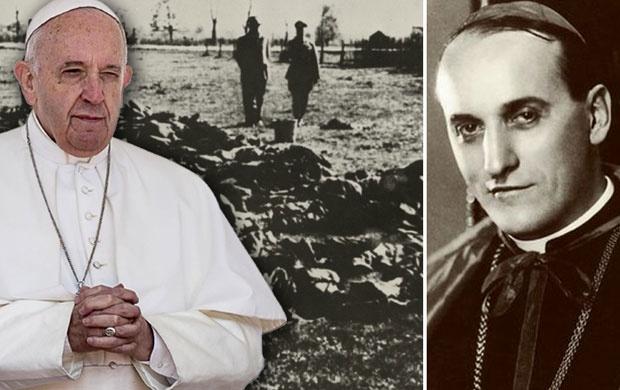 Papa Franja, ustaše iznad leševa pobijenih Srba, Alojzije Stepinac, foto: Novosti