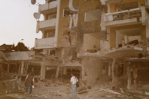 Posledice raketiranja centra Novog Pazara