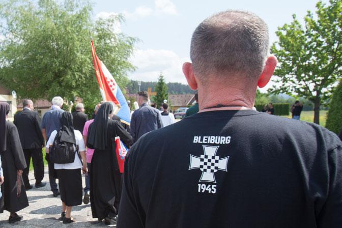 Sa prošlogodišnjeg okupljanja u Blajburgu (Foto EPA-EFE/ALEX HALADA)