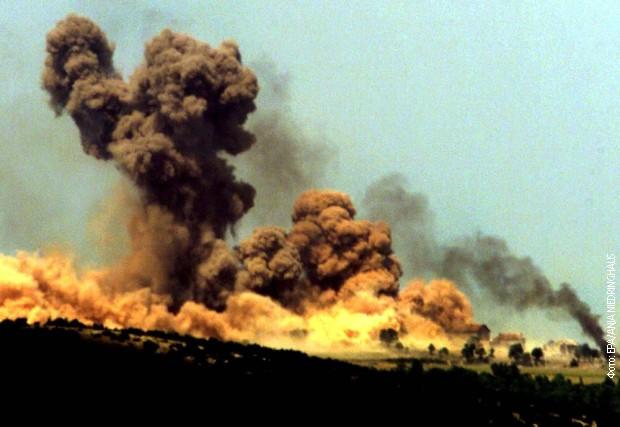 Бомбардовање Шех махале 31. маја 1999. године / Фото: РТС