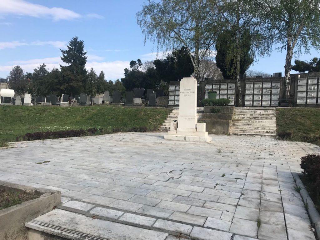 Spomenik žrtvama na jevrejskom delu groblja na Gardošu, Zemun