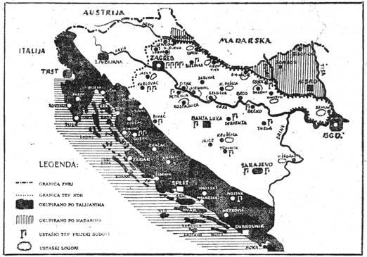 Ustaški tzv. prijeki sudovi i logori na području Nezavisne Države Hrvatske, 1941. godine.