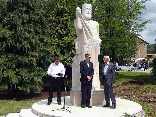 Bileća: Otkriven spomenik Dragoljubu Mihailoviću (Foto: SRNA)