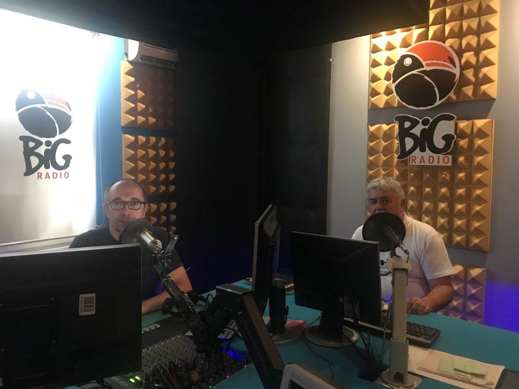 U studiju BIG radija Banja Luka 12. juna 2019.
