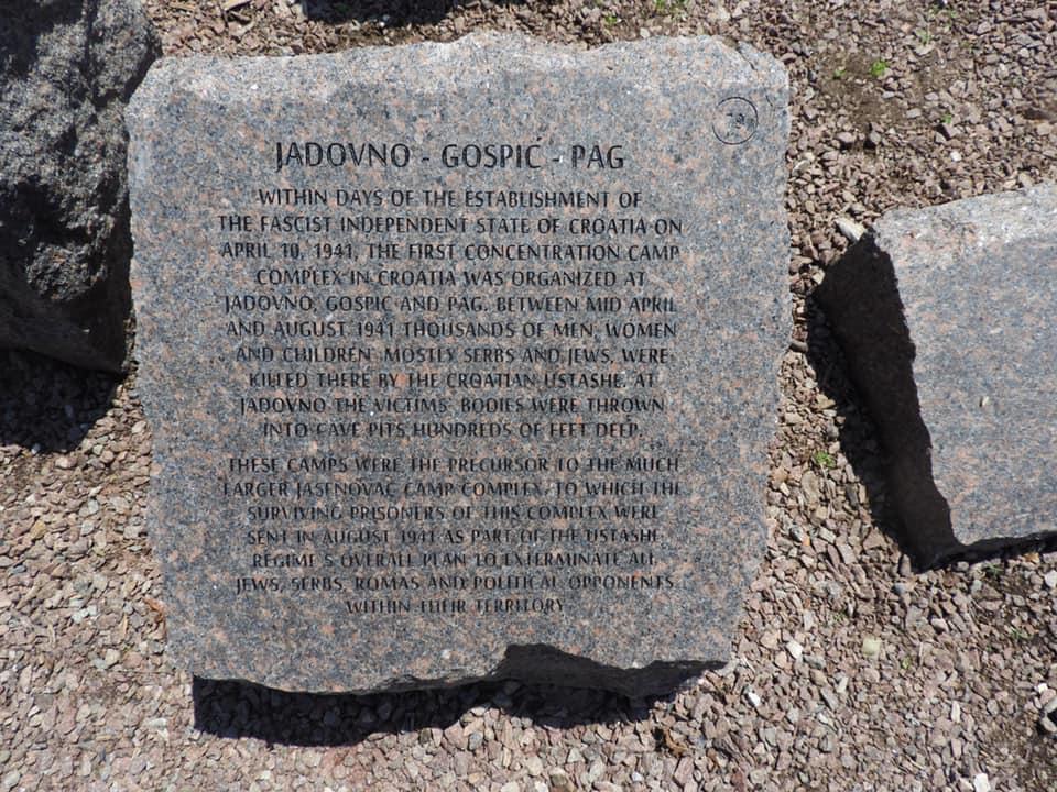 Spomen kamen u Bruklinu, SAD. FOTO: Danijel Simić